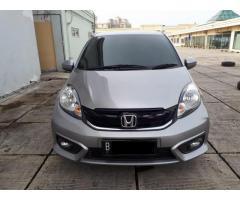 Honda brio E Matic 2017 silver metalik Kondisi terawat km 14rb