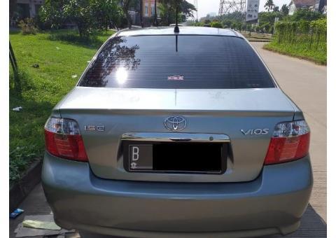Toyota Vios G Tahun 2007 warna silver metalik manual