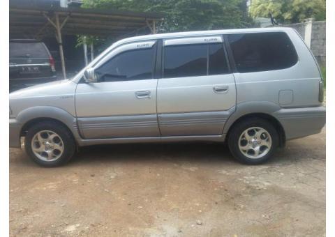 Toyota Kijang krista bensin 2001 manual silver ors