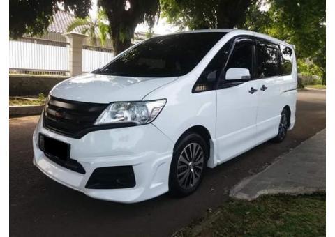Jual New Nissan Serena HWS AT Th 2013 wrn putih Plat F Kota Bogor