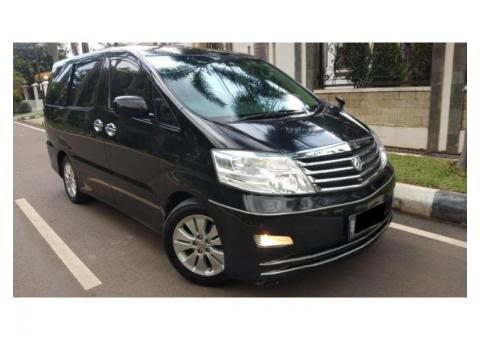 Alphard type G (MZG) Thn 2007 Hitam Good ConditioN