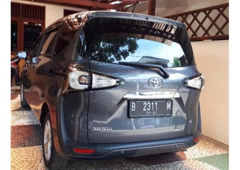 Toyota Sienta G-AT 2016 - Kondisi Bagus, a.n. sendiri