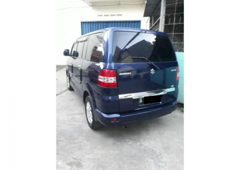 Suzuki apv tipe x 1.5 manual tahun 2005 biru metalik
