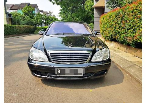 MERCY S500L TANGAN PERTAMA V8 320HP W220 CBU Germany FULL OPTION