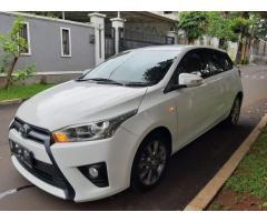 Toyota Yaris Matic 2014 Putih Pakai Sendiri