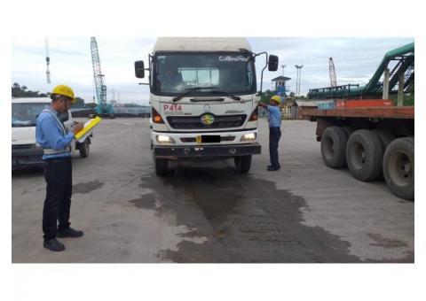 Dijual Kepala trailer Hino 2012 type 320 TI traktor head + chassis 3 axle full original