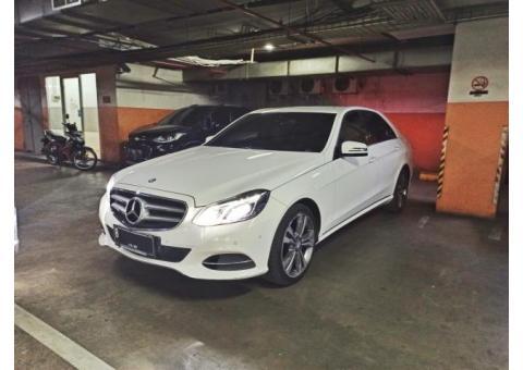 Dijual Mercedes E250 Avantgarde 2014/2015 Putih, Mulus, Tangan Pertama